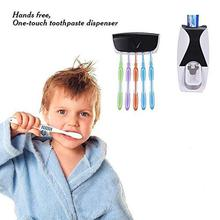 KBF Automatic Toothpaste Dispenser and 5 Toothbrush Holder for Home