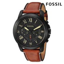 Fossil Watch Men Grant Chronograph Luggage Leather Watch For Men- FS5241