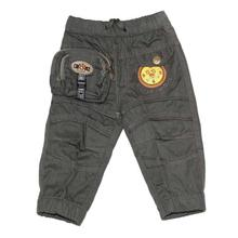 Black Cat Grey Clock Embroidered Pants For Baby Boys - BCKG1741