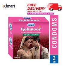 Durex Kohinoor Flavoured Dotted Condoms - 3 Pcs
