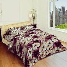 Coffee Flower Printed Bedsheet With Blanket Cover