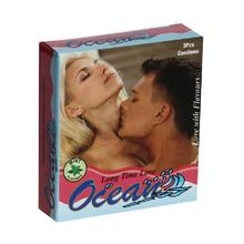 Ocean Long Time Love Condoms (Mint Flavored) -3 Pcs