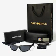 GREY JACK Matte Black/Golden/Dark Green Framed Polarized Classic Club Master Sunglasses (Unisex) - S1228