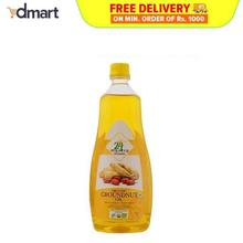 24 Mantra Organic Cold Pressed Groundnut (Peanut) Oil, 1Ltrs