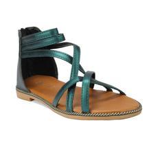 Green Gladiators Sandal For Women