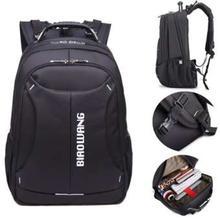 Biaowang Waterproof Everday Usage Black Laptop Backpack (BAG1)