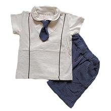 Fanteecy Summer Baby Boy Outfits Cute Gentleman Bowtie T-Shirt +Shorts Set  Kids Clothes