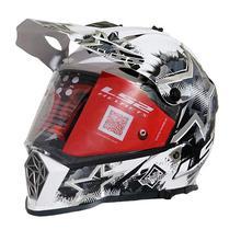 LS2 Pioneer Chaos Full Helmet [White/Black/Titanium]