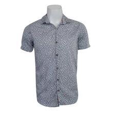 Small Flower Printed Half Shirt For Men