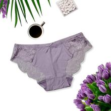 Mid Waist Floral Laced Panty For Women