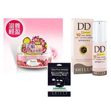 Combo Of 3 SHILLS Hair Mask, Whitening Mask & Daily Defence Cream