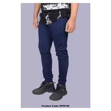 Hifashion- Unisex Plain Fleece Jogger Sweat pant-Blue