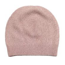 Light Pink Solid 100% Cashmere Cap