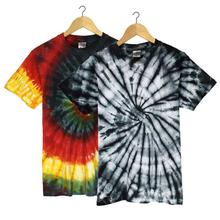 Combo Of 2 Cotton Tie Dye T-Shirt For Men-  Multicolored