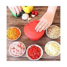 Easy Pull Vegetable & Fruit Chopper - Hand Held Chopper