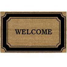 """'Welcome' Printed Textured 24"""" x 16"""" Outdoor Door Mat"""
