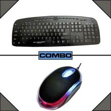 Blackcherry Combo of USB Keyboard & USB Mouse - Black