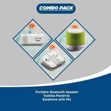 Toshiba Combo Pack(Earpod,Pen Drive,Bluetooth)