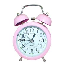 Pink Color Alarm Clock With Twin Bell