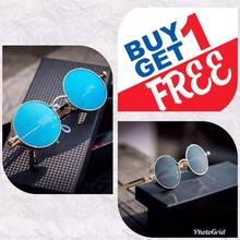 Buy 1 Get 1 FREE Steampunk Unisex Sunglasses- Blue/Black