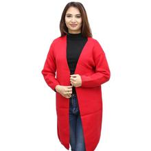 Red Solid Outer For Women