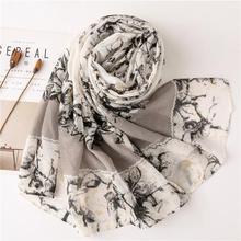 Korean Style Sun Protection Premium Printed Scarves For
