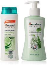 Himalaya Aloevera Facewash, 200ml (Free Aloe & Cucumber Body Lotion)