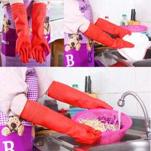 Rubber Cheaboom Reusable Waterproof Household Latex Gloves- Red