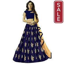 SALE-E Ethnic Store Women's Taffeta Silk Embroidered Lehenga