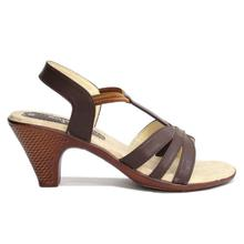 Chocolate Brown Strap Heels For Women