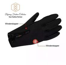 Authentic Black Windstopper Touch Screen Gloves for Winters