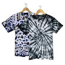 Combo Of 3 Cotton Tie Dye T-Shirt For Men-  Grey/Green/Blue
