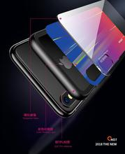 Joyroom TPU + PC + Tempered Glass Rainbow Back Case Cover for iPhone XS Max / 6.5 Inch