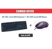 R8 Wired USB Keyboard and Mouse Combo