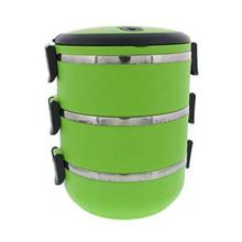 2.1 L Two Tier Tiffin with Vacuum Seal Lid and Stainless Steel Interior Lunch Boxes Portion Control