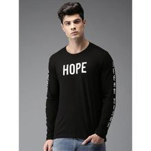 Men Black Printed T-shirt