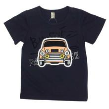 Navy Blue Car Printed T-Shirt For Boys