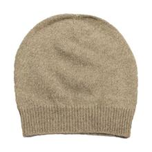 Brown Solid 100% Cashmere Cap
