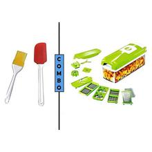 Combo of Silicone Basting Spatula + Slicer & Dicer