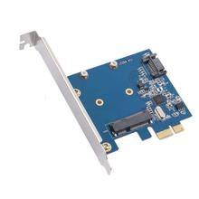 PCIe To MSATA SSD & SATA3.0 Combo Expansion Card, PCI Express Controller Mini SATA SSD Adapter