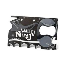 Tough Wallet Ninja 18 in 1 Multi Purpose Tool Kit - Metallic