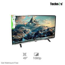 Technos 49″ Full HD Curved LED TV With Wallmount And Smart Box (E49Du2000)