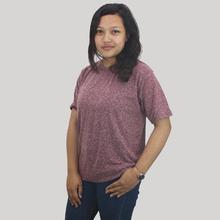 Lugaz Women's Round Neck Textured T-shirt