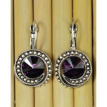 Purple Stoned Earrings For Women