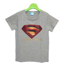 Grey/Red Superman Printed T-Shirt For Boys