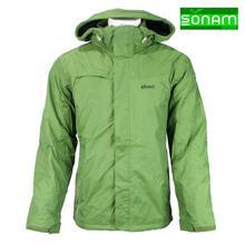 Sonam Gears Green Fur Inside Windcheater Jacket For Men(455)