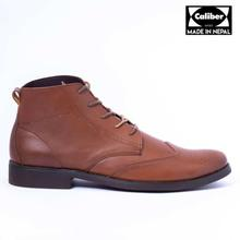Caliber Shoes Tan Brown Lace Up Lifestyle Boots For Men - ( 235 C)