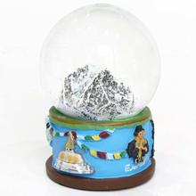 Everest Glass/Ceramic Snow Globe - Blue