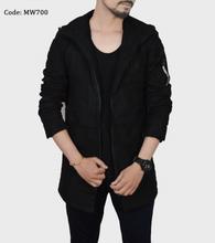 Men Casual Cotton Long Jacket