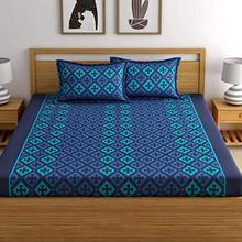 Home Ecstasy 100% Cotton Double bedsheet with 2 Pillow